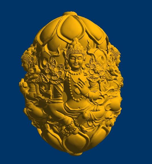 渡母勒子 3D打印模型渲染图