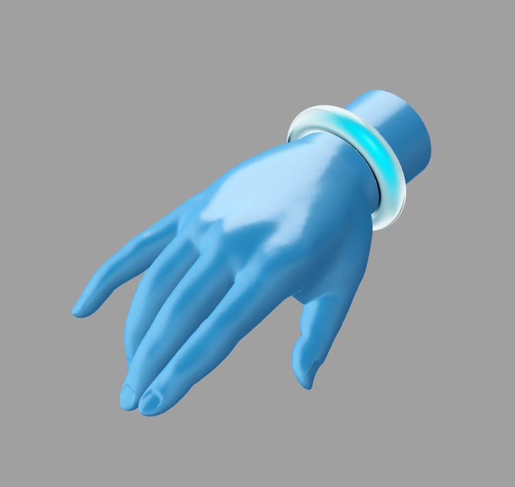 高精度的 佛手 3D打印模型渲染图