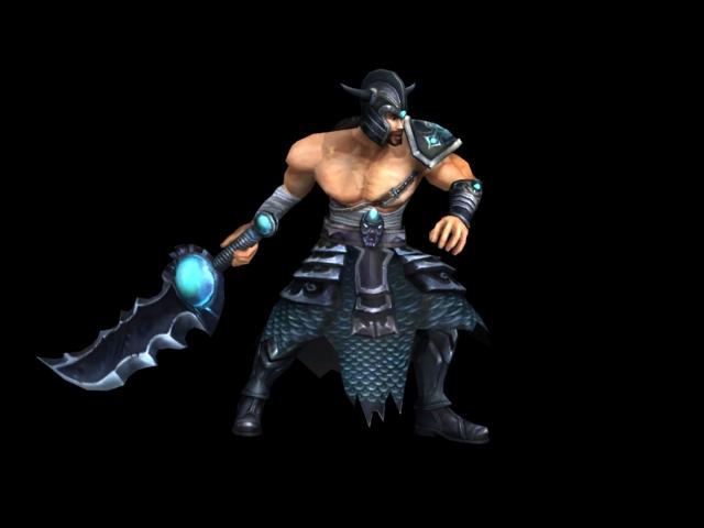 英雄联盟  蛮族之王 3D打印模型渲染图