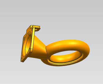 三角洲热头散热器 3D打印模型渲染图