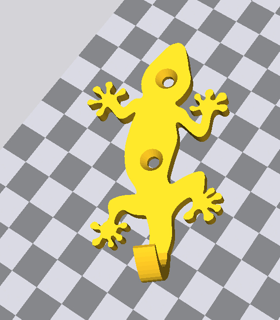 壁虎挂钩 3D打印模型渲染图