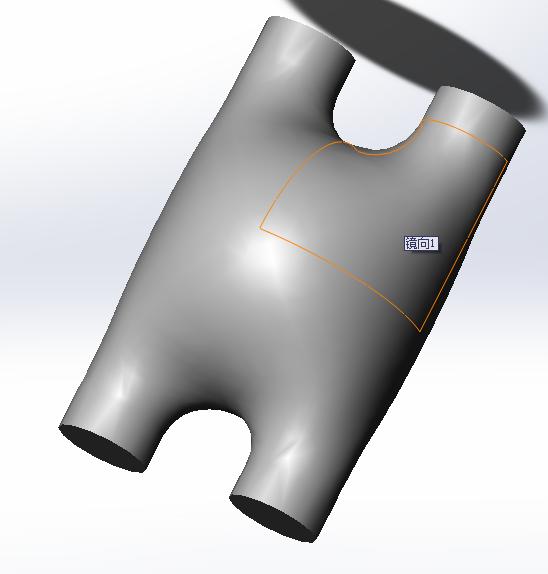 曲面零件 3D打印模型渲染图