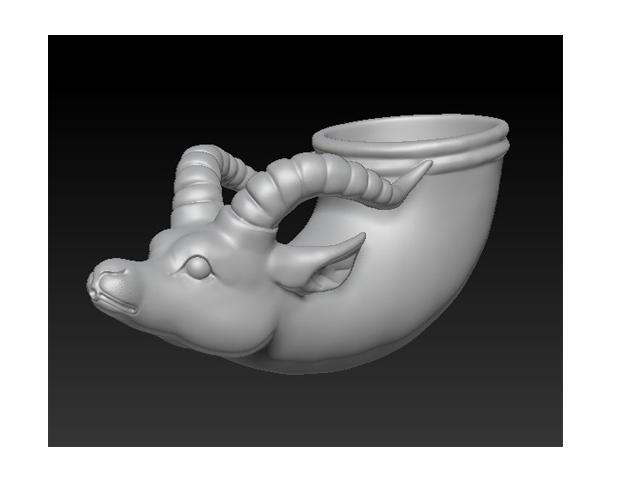 兽首杯 3D打印模型渲染图