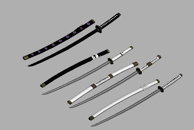 【武士刀】4把高模
