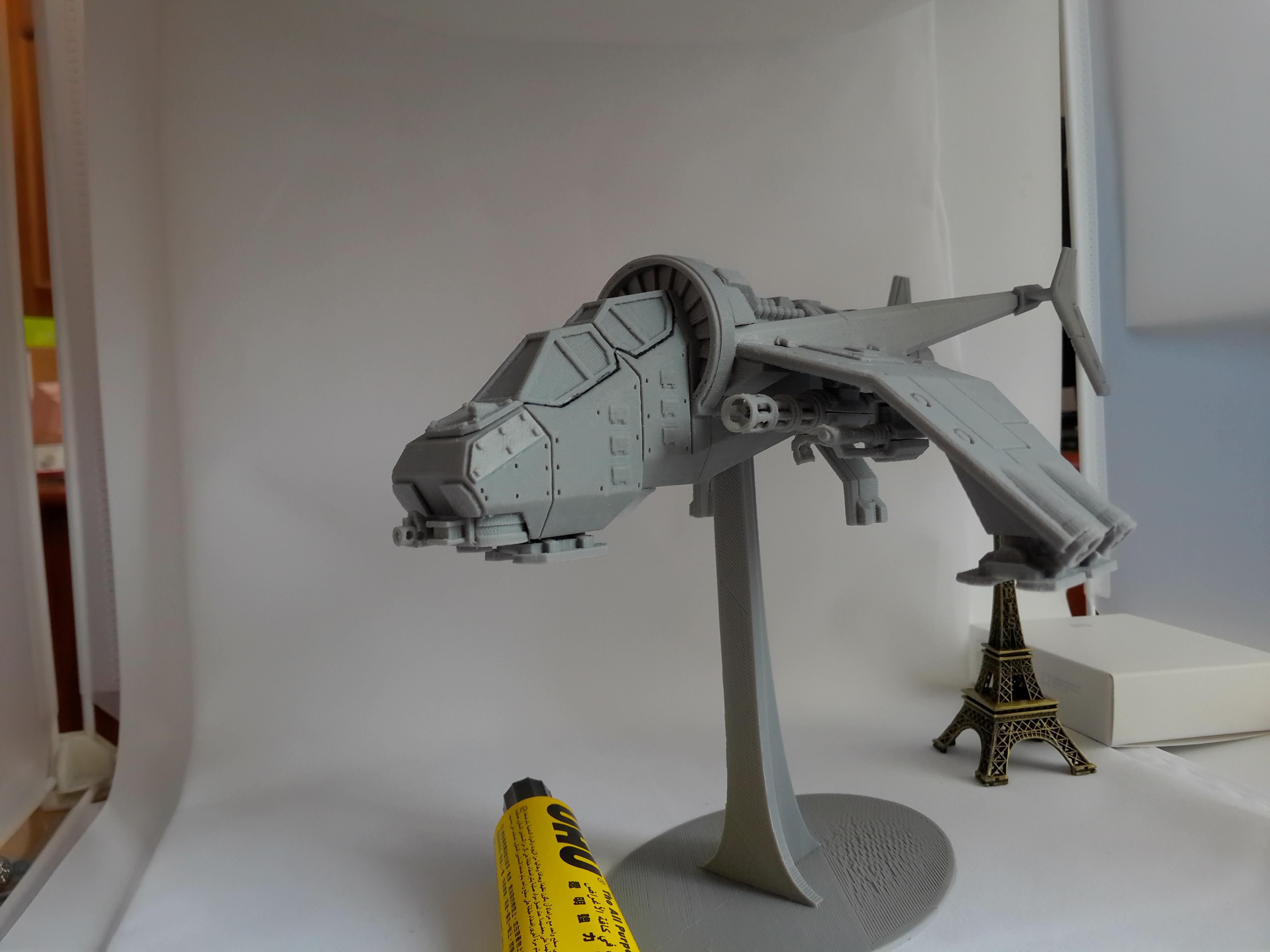 Albatross Gunship 3D打印实物照片
