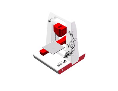 网云七彩云3D打印机 0.2mm打印精度 适合家用