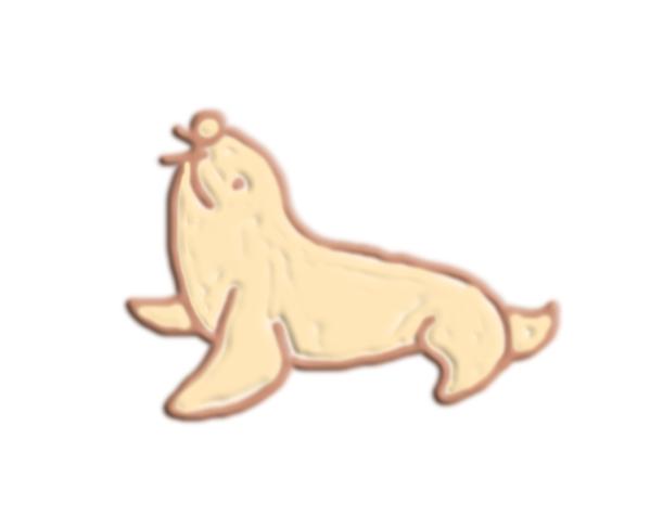 海狮 3D打印模型渲染图