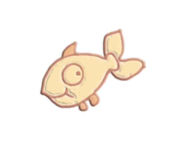 鱼 3D打印模型渲染图
