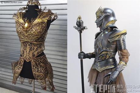 """绝对惊艳!女设计师用3d打印打造""""极客女皇""""盔甲图片"""