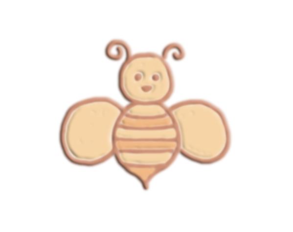 卡通版蜜蜂 3D打印模型渲染图