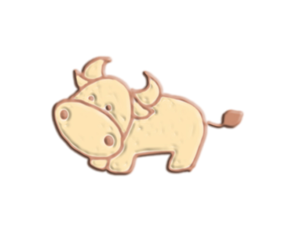 牛 3D打印模型渲染图