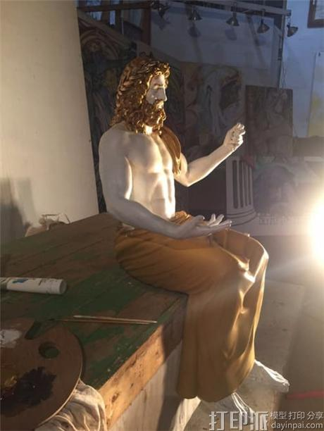 博物馆携手Stratasys 3D打印世界七大奇迹之宙斯神像复制品.jpg
