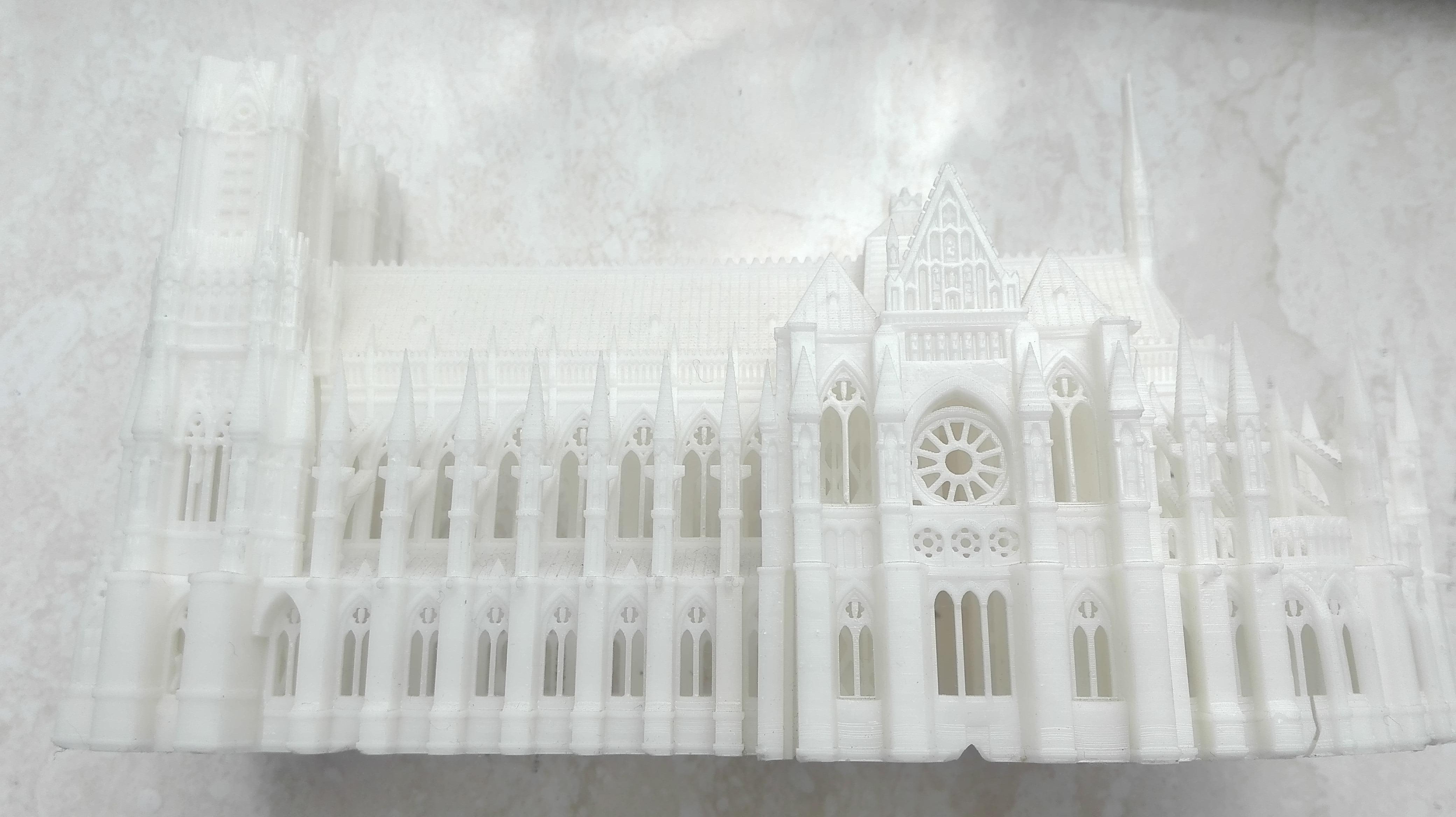 兰斯圣母院教堂 激光工业机,高清
