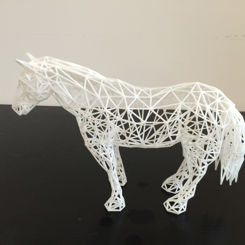 3D打印工艺品、镂空编织马