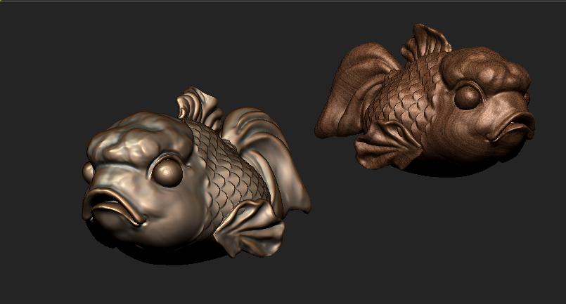 愤怒的小鱼 3D打印模型渲染图