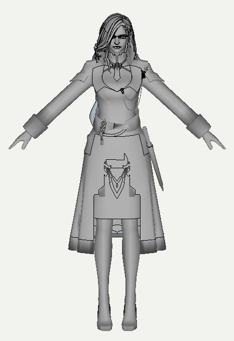 最终幻想 3D打印模型渲染图