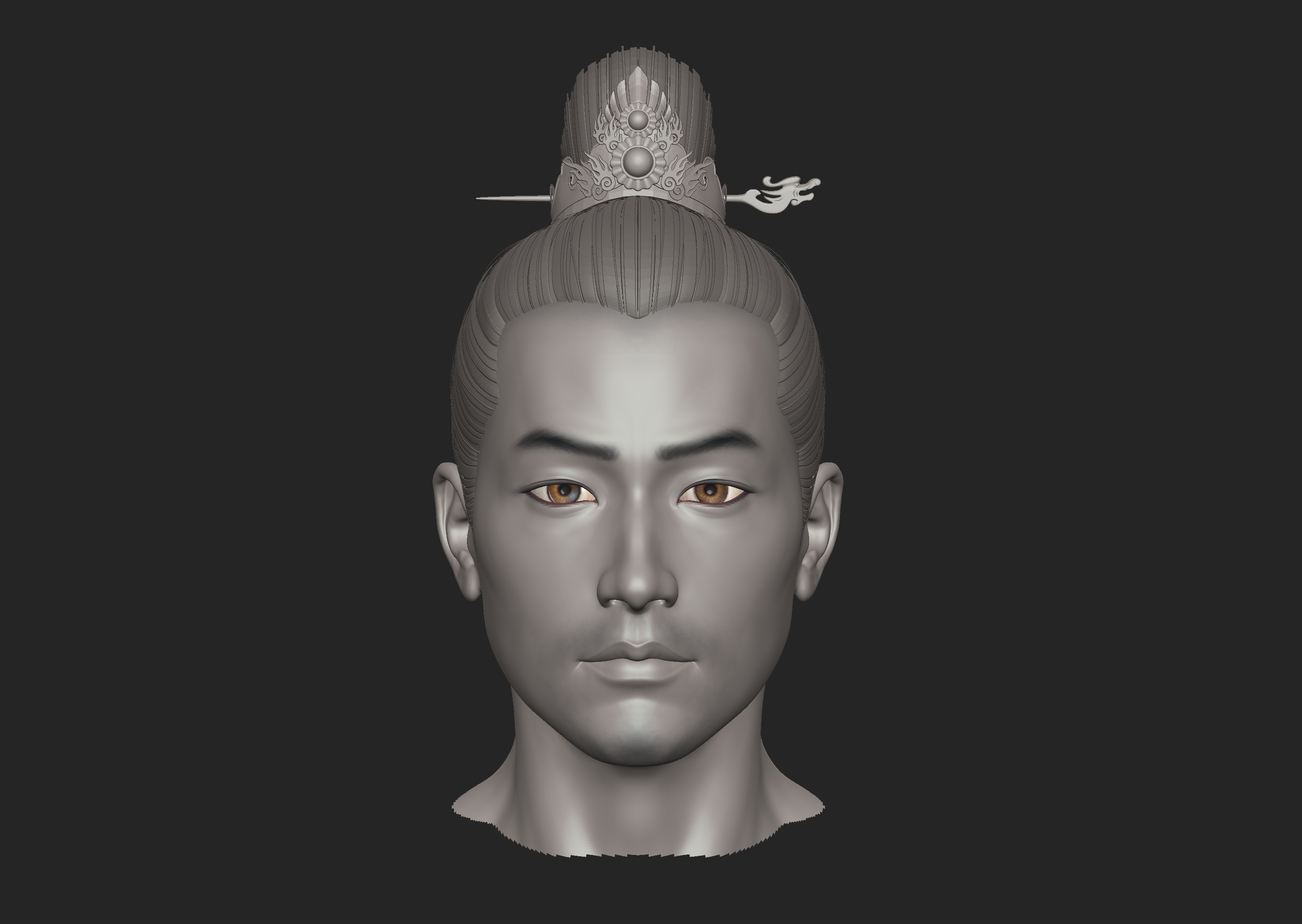 ZB标准男人体雕刻+古装发型