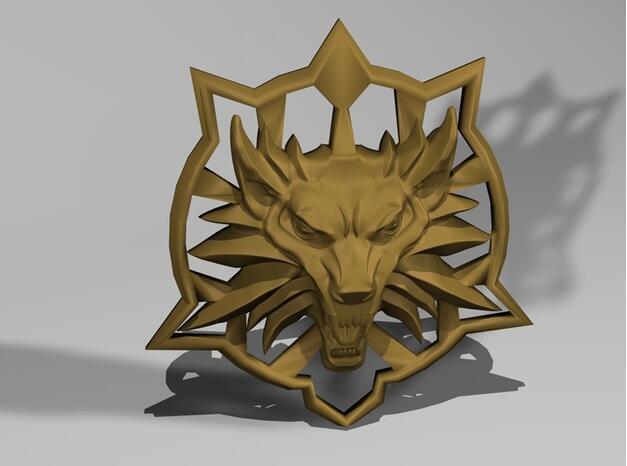 巫师狼徽章