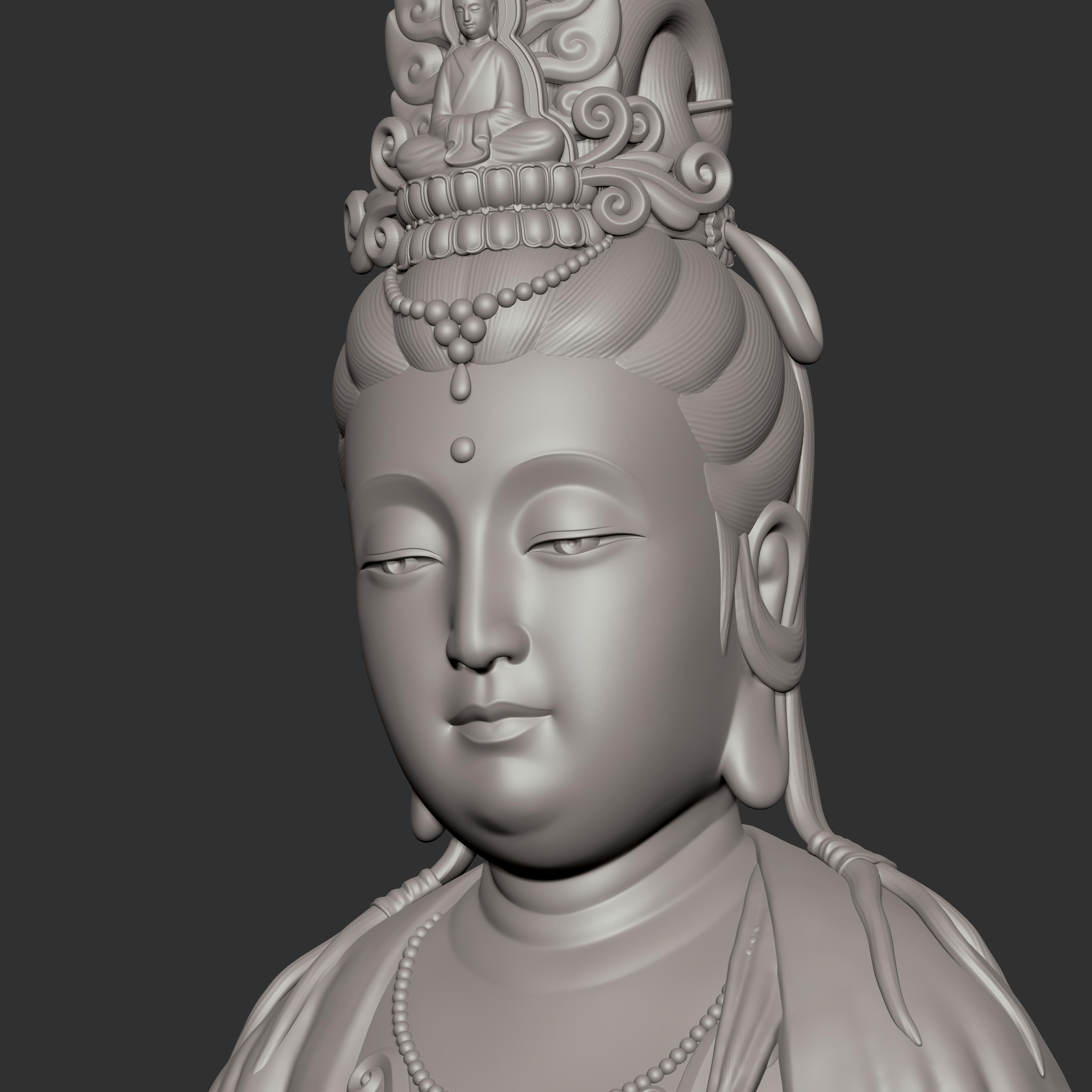 观世音菩萨坐像3D模型