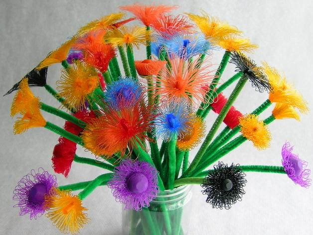 塑料七彩小花