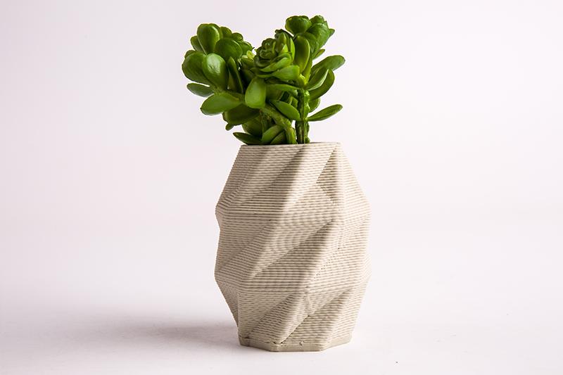 多面体陶瓷花瓶