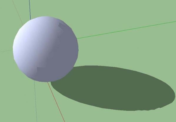 sketchup建模教程:如何绘制一个球体