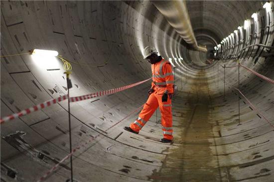 英国伦敦用3D打印技术打造火车隧道 预计在2019年底投入使用