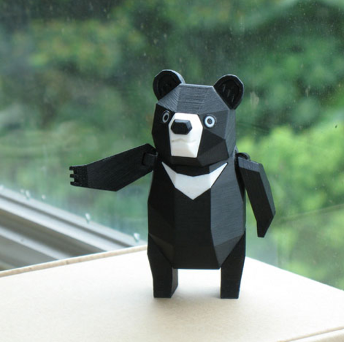 可活动小黑熊
