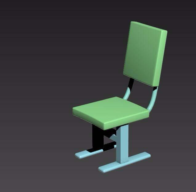 3dsmax建模教程:绘制一把学生靠背椅模型
