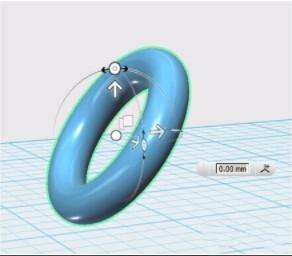 autodesk 123D 中该怎么全方位移动物体?