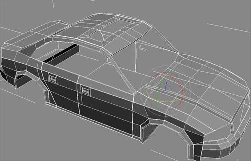 3DMAX建模教程:制作小汽车模型