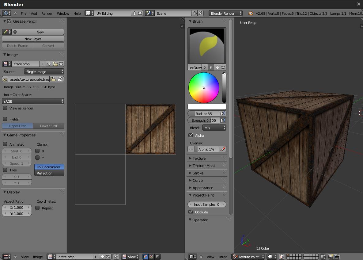 Blender建模教程:绘制一个带纹理的正方体