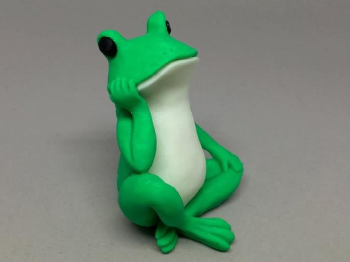 沉思的青蛙