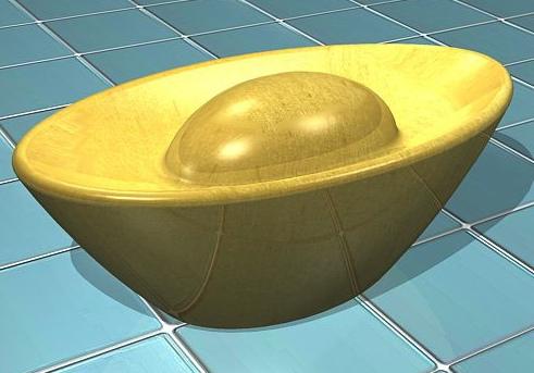 AutoCAD建模教程:绘制金元宝模型