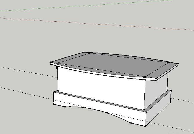 sketchup建模教程:绘制床头柜模型