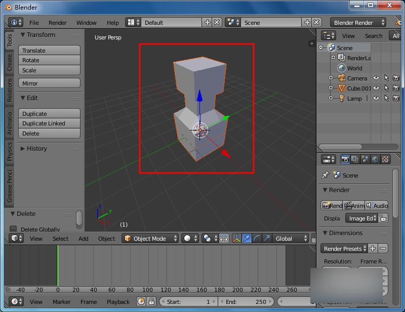 3D建模软件Blender中导入模型的操作方法