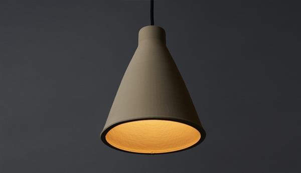 家具设计师展示陶瓷3D打印吊灯灯罩Pelo 经典而优雅