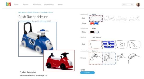 iBUS公司推出让用户自己定制3D打印玩具的在线平台