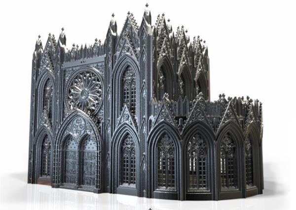 Printable Scenery发布3D打印哥特式建筑模型系列Rampage