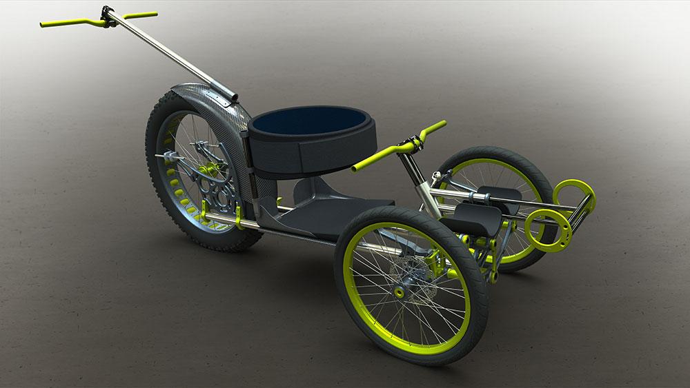 加拿大轮椅厂商Icon WheelChairs研发出新型3D打印三轮轮椅