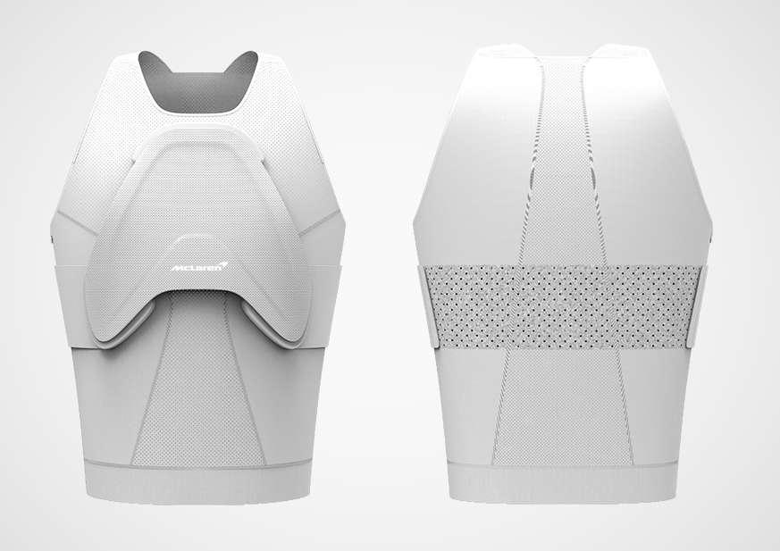 """迈凯轮借助亚洲通官网注册技术开发出保护赛车手的可穿戴的盔甲""""盾牌"""""""