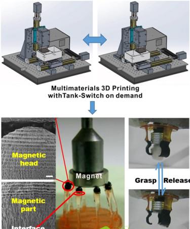 中国兰州化物所多材料3D打印免装配柔性驱动器研究取得一定进展