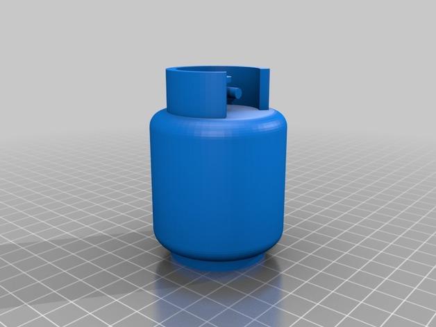 煤气罐3D模型