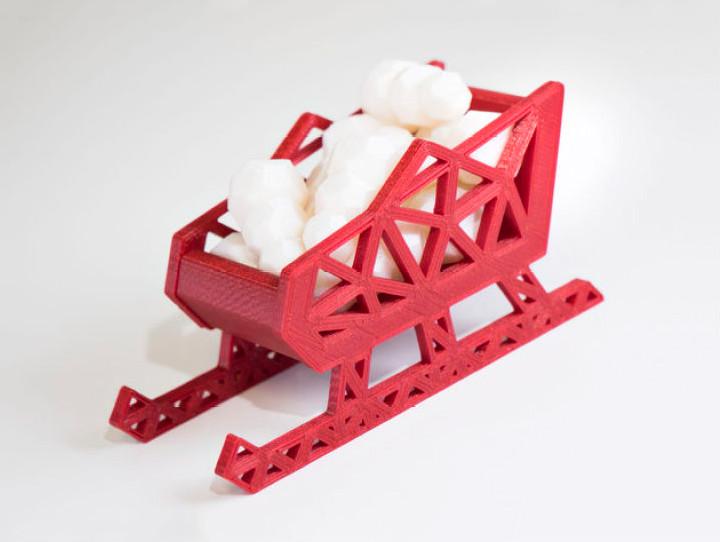 圣诞小雪橇模型