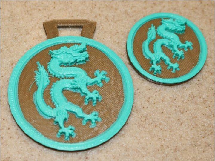 神龙硬币模型