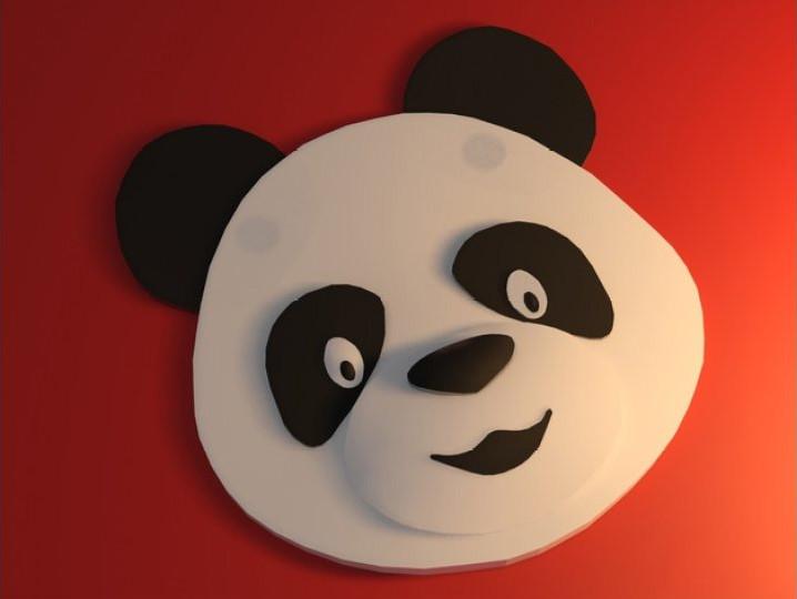 熊猫头像模型
