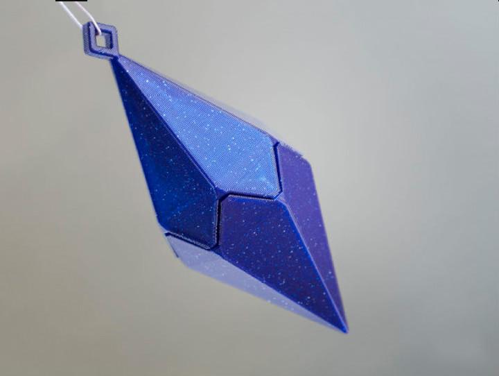 水晶棱柱吊坠