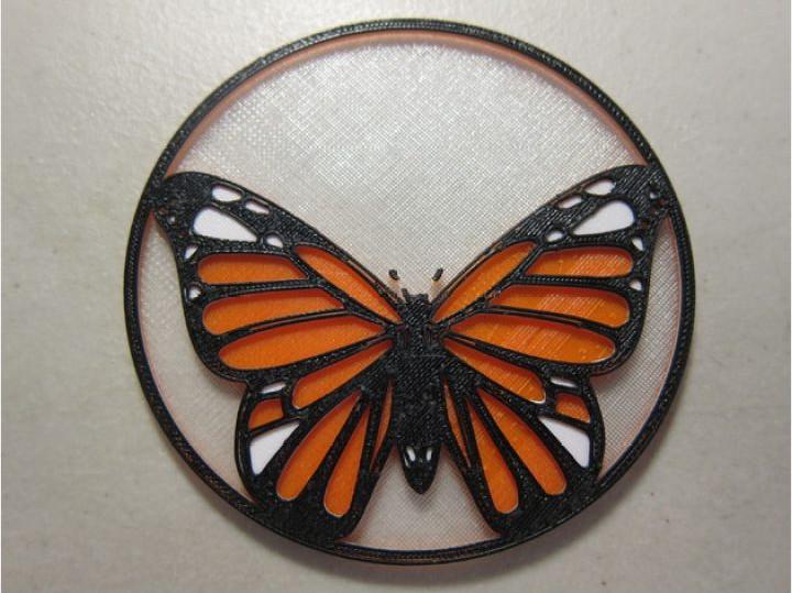 蝴蝶挂件模型