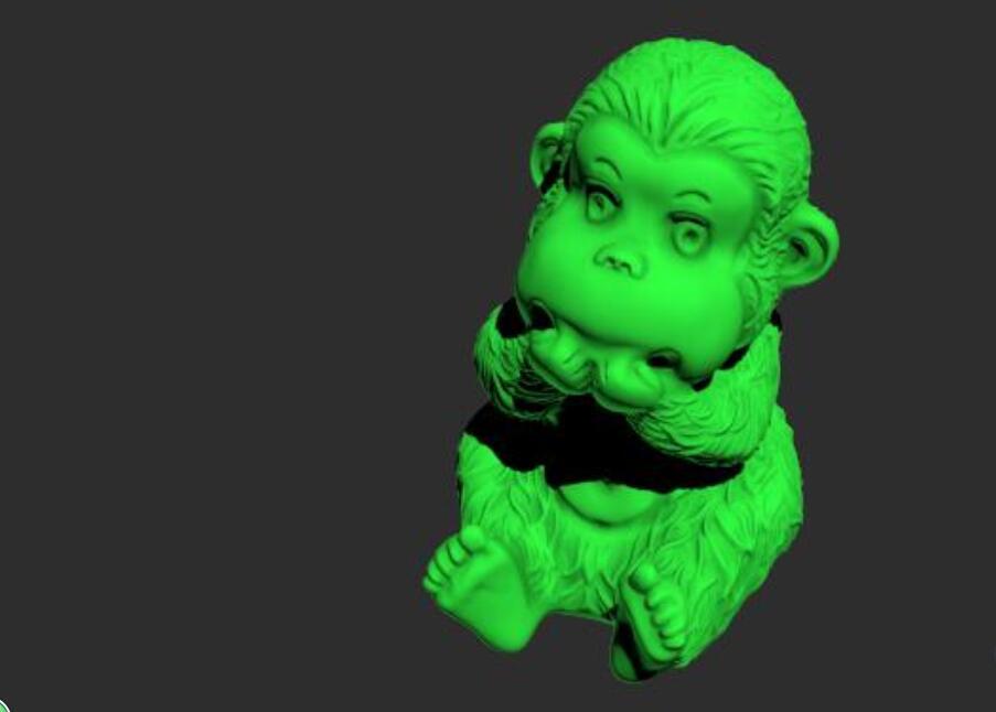 顽皮小猴模型